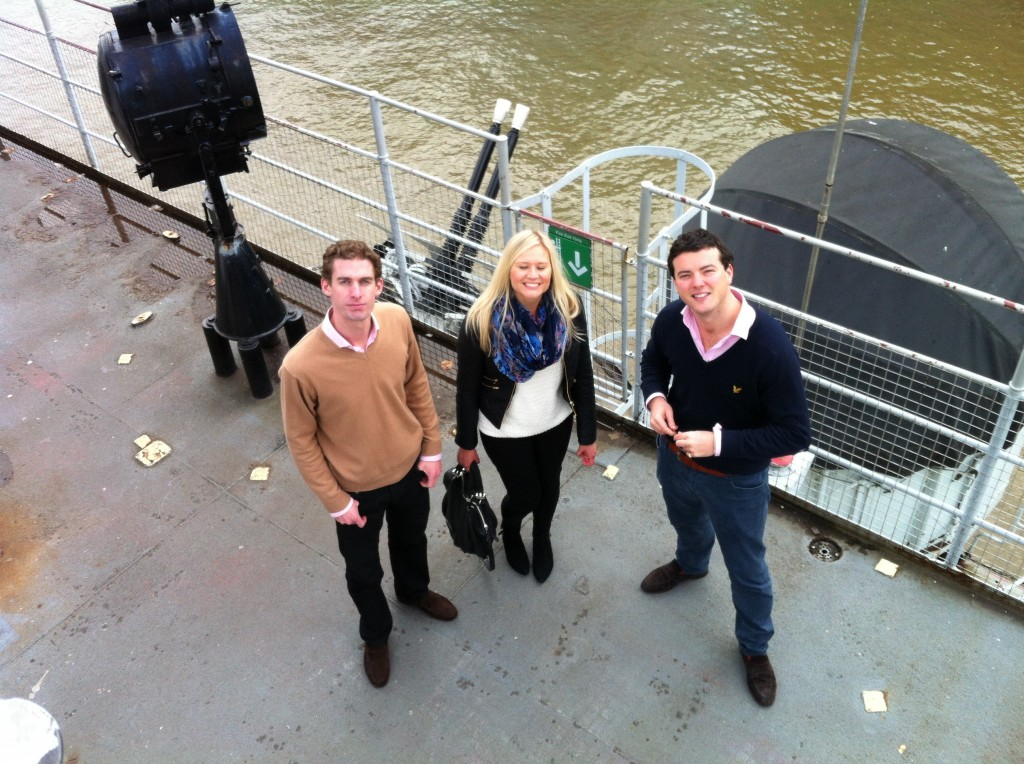 Simon, Terese and Harry on deck