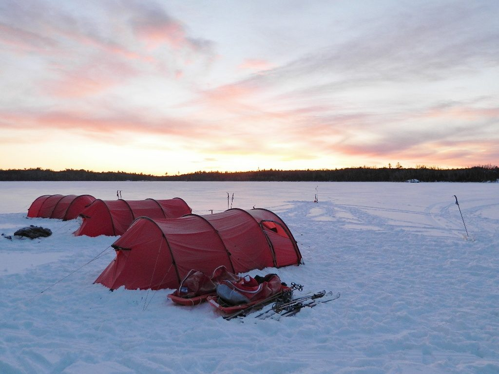Camping-on-a-frozen-lake