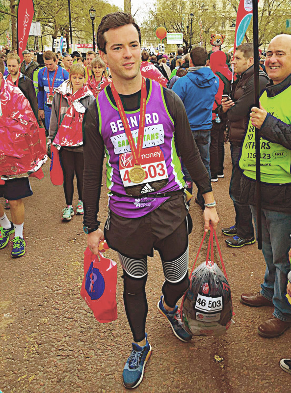 Harry Hearn at the London Marathon 2016